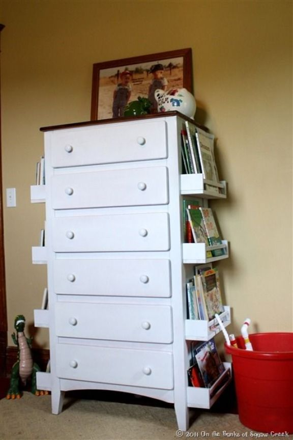 Dresser books shelf