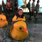 Giant Rubber Duck in Hongkong Victoria Harbour