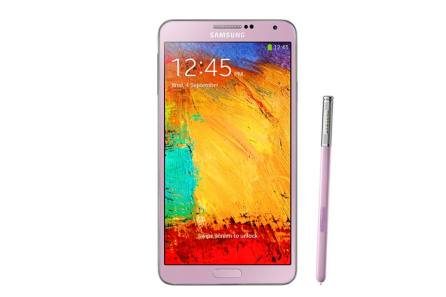 Samsung Note 3 Blush Pink Front