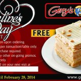 Gerrys Grill Valentine Promo this 2014