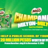MILO Champanalo Milyon-Milyon Raffle Promo