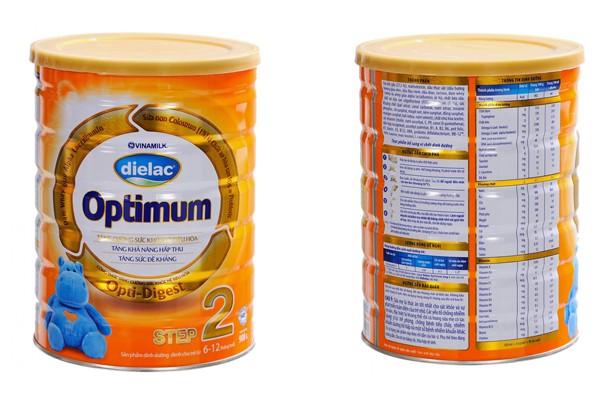 Sữa Dielac Optimum step 2 cho trẻ