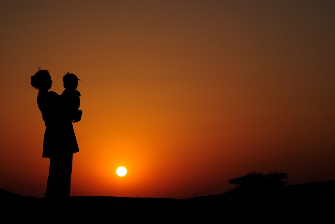 One child in Sunset