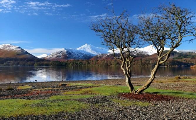 landscape view of a river in Cumbria