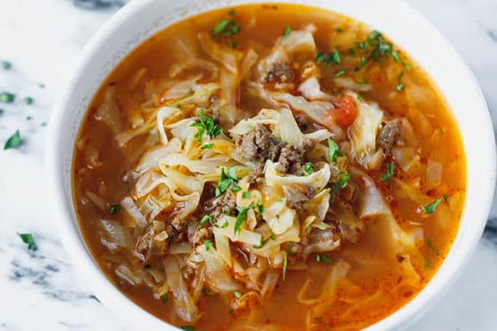 Recipes with cabbage . Keto Cabbage Soup Recipe