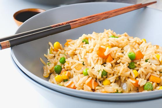 Recipes with fried rice . vegan fried rice