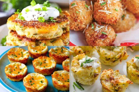 Recipes with mashed potatoes. Quick and easy recipes