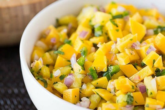 Recipes with mango . Mango pineapple salsa