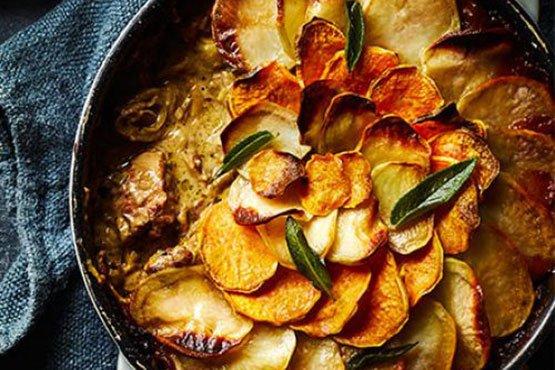 Best comfort food recipes . Slow-cooked pork, cider & sage hotpot