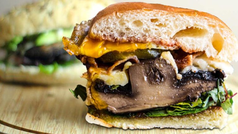 Easy and Tasty Portobello Cheeseburgers Recipe