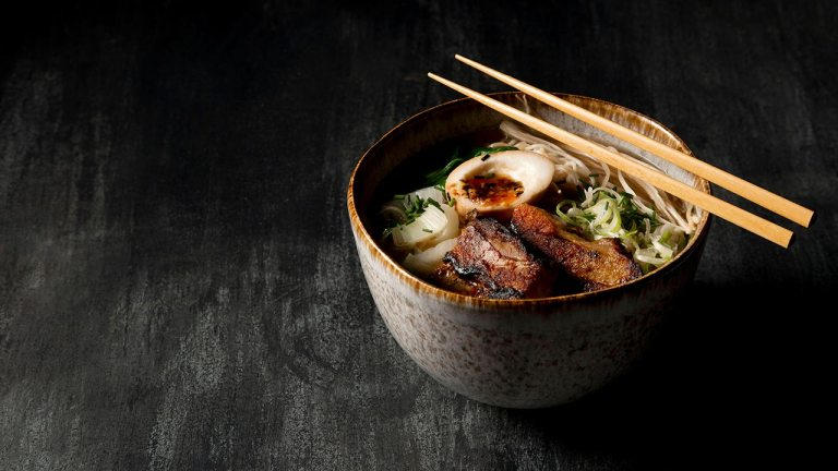 Ramen with Marinated Pork Steak