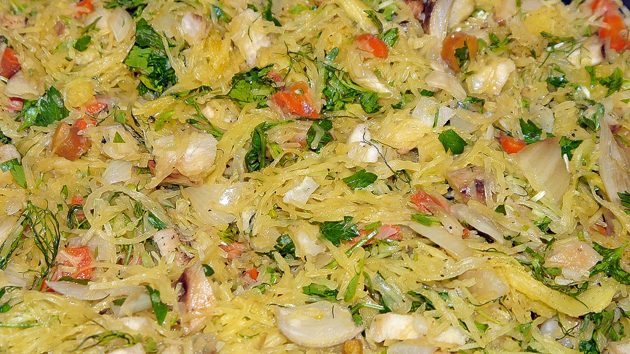 Spaghetti Squash and Roasted Vegetables Recipe