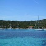 Azuurblauwe baai
