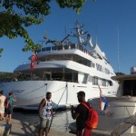 Groot bootje bij de Krka, Kroatië