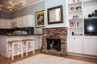 926 Willow Ave #1 - Fireplace