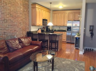 1102 Washington St #1 - living dining kitchen