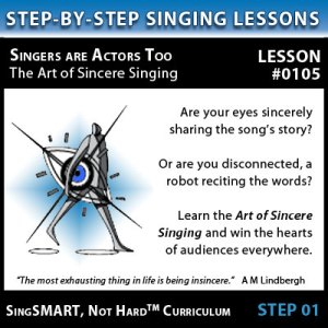 Singing Lessons - Singers are Actors