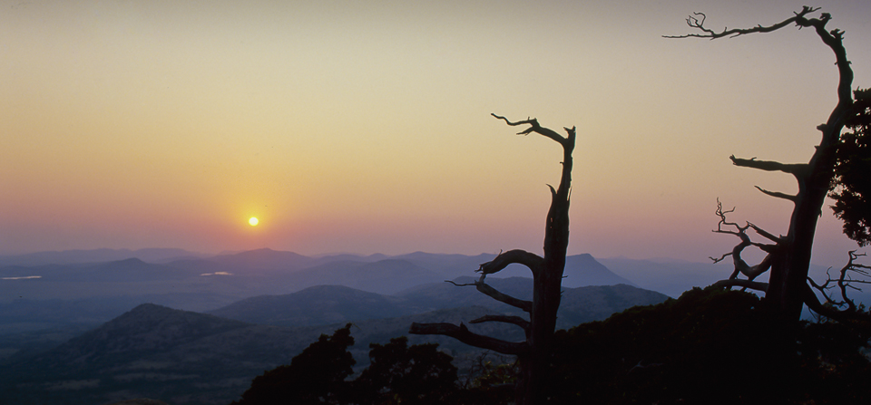 Sunset from the top of Mt. Scott in the Wichita Mountains NWR