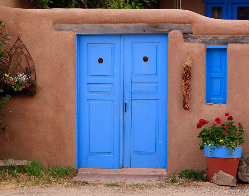 Blue Door and Adobe Rancho de Taos, NM