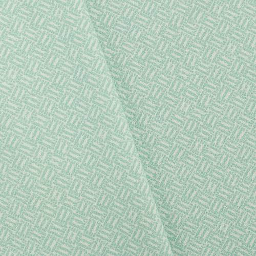 pastel teal white texture weave printed dobby decor fabric