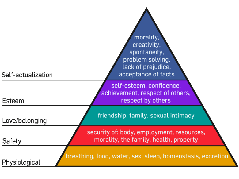 Maslow's Hierarchy of needs perspectives