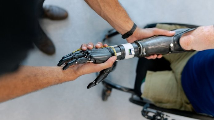 mind-controlled robotic arm touch