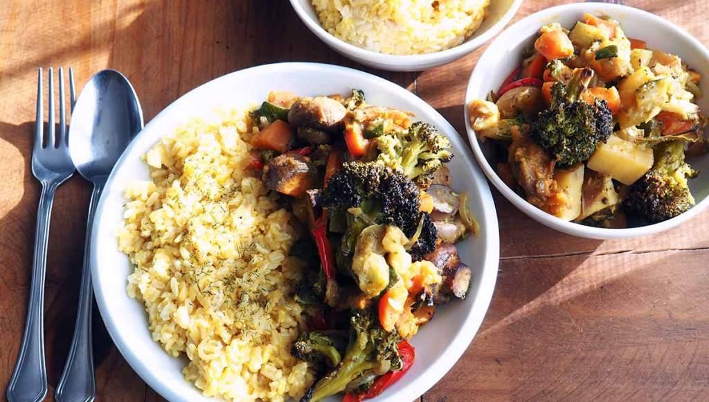 hortalizas con curry