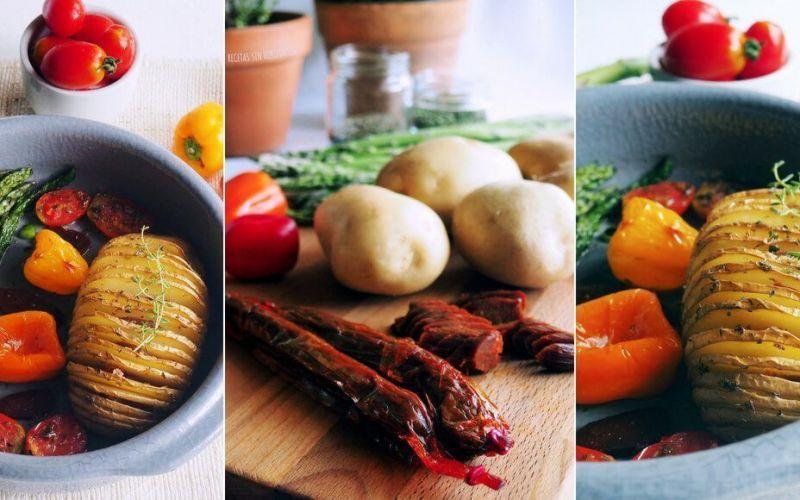 patatas hasselback con calabizo