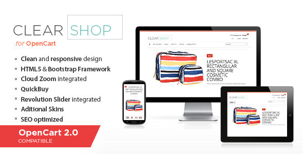 Clearshop – Responsive OpenCart theme