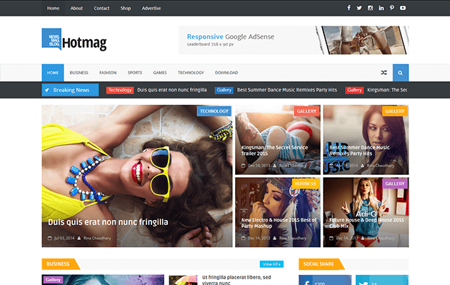 Hot mag Responsive Blogger Template Free Download