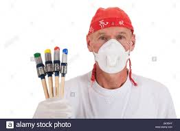 painter in mask