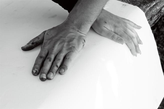 printer's hands