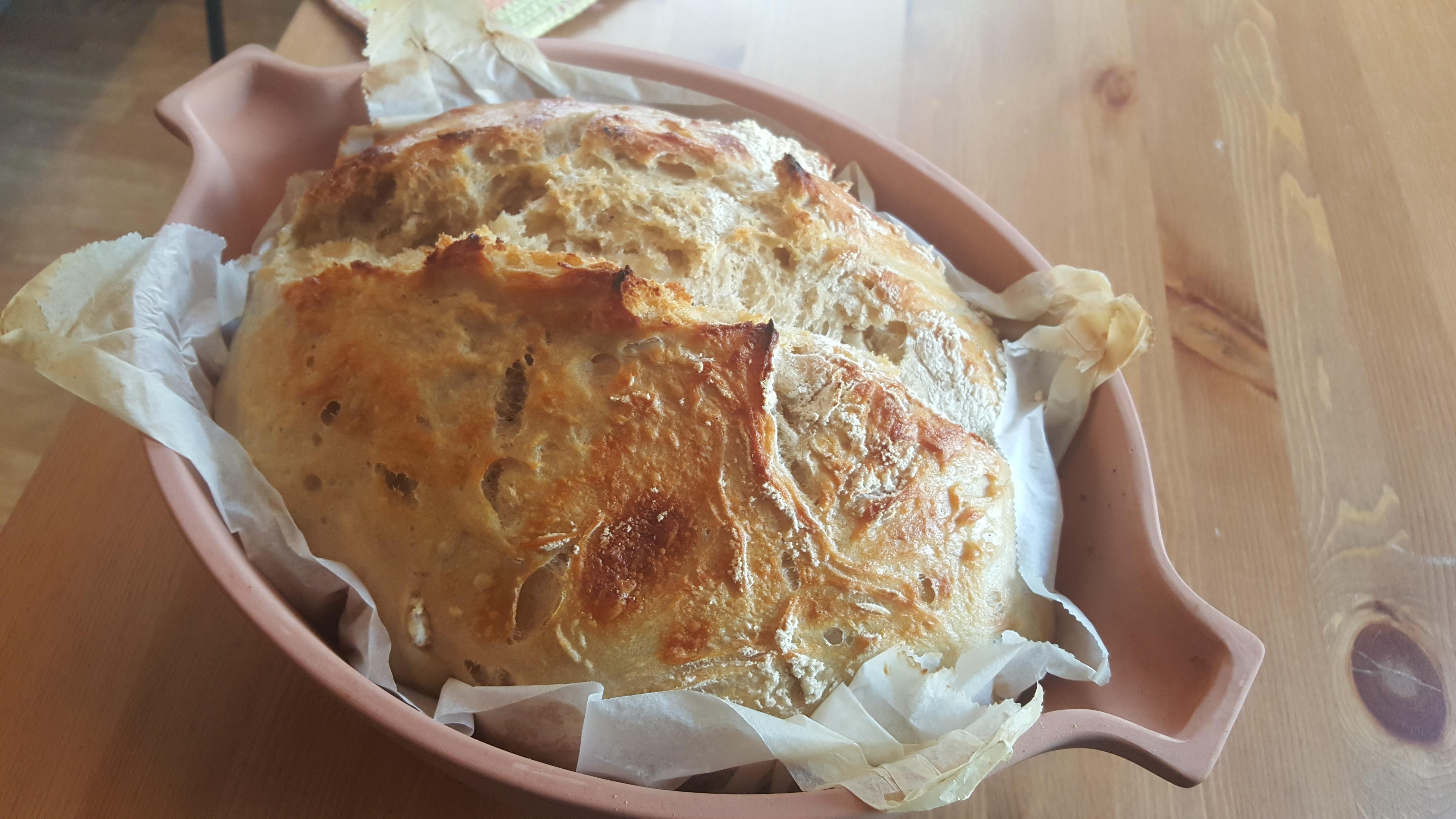 Eltefritt brød i rømmertopf