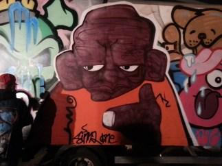 Painting vans alongside Multi syndicate crew and NOL