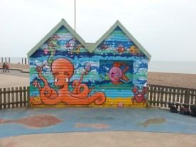 Ice Cream Kiosk, Brighton Sea Front. March 2014