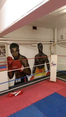 Commissioned portraits. Nigel Benn and Chris Eubank for ABC boxing gym. Hove. 2015.