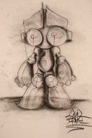 Sinbot. Charcoal doodle. 2016.