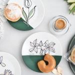 Diy Porzellan Bemalen Mit Ein Strich Zeichnungen Inkl Vorlagen Sinnenrausch Der Kreative Diy Blog Fur Wohnsinnige Und Selbermacher