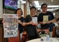 左起:作者蔡詠梅 ,楊毅,金鐘。照片:作者提供。