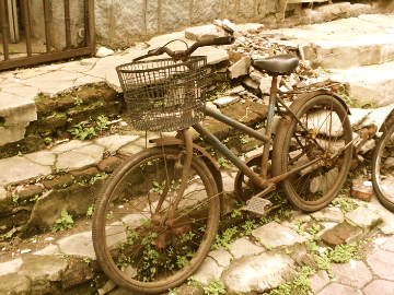 Bicycle in Dandong, the Sino-Korean border region | Image: Adam Cathcart