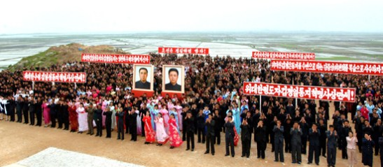 Kwaksan tideland reclamation project in North Pyongan Province