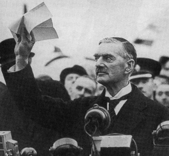 Xi Jinping doesn't want to be Neville Chamberlain, does he? Quite a galvanizing juxtaposition.