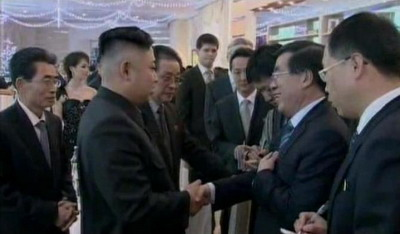 A little bilateral discord, fixed over Moranbong chords | image via PRC Embassy in the DPRK