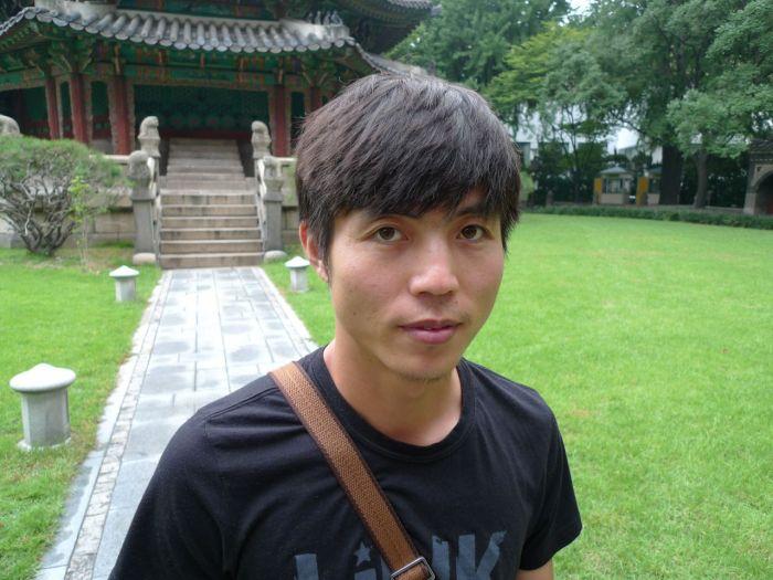 Shin Dong-hyuk in Seoul; image courtesy Blaine Harden