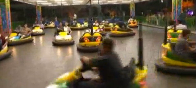 Hitting the dodgems down at Rungra Resort in Pyongyang | image ⓒSino-NK