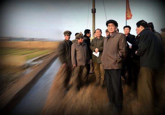 Pak Pong-ju on a field visit | Image: KCNA