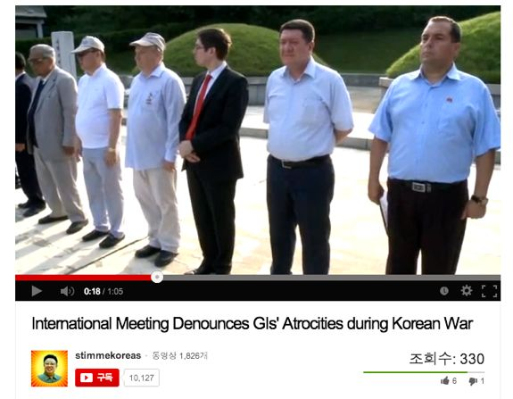 Lining up to denounce US imperialism in Sincheon. | Image: Destination Pyongyang