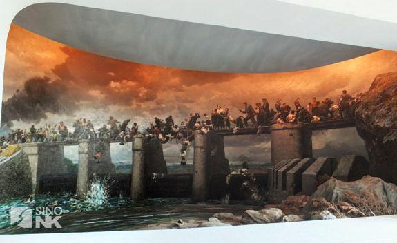 A fresco of North Korea's take on the Sowon Lake killings | Image: Louis Doucet