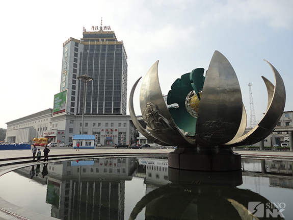 In front of Dandong railroad station | Image: Matthew Bates