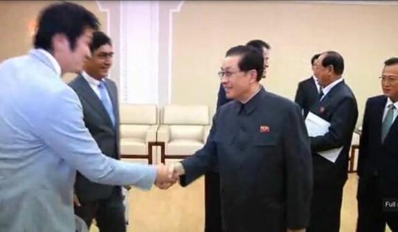 Jang Sung-taek in Pyongyang on November 6, 2013. Image via Chosun Central Television.